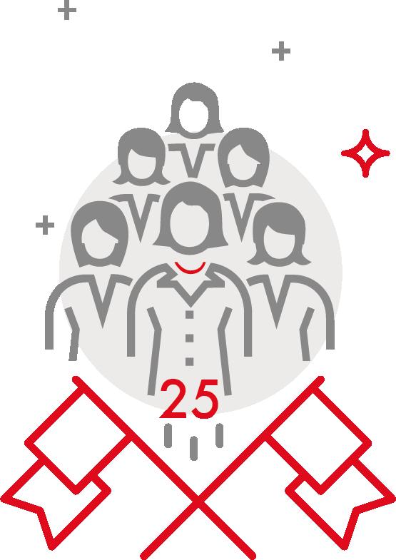 Illustration – 25 Frauen pro Jahr für die Top-Ebene