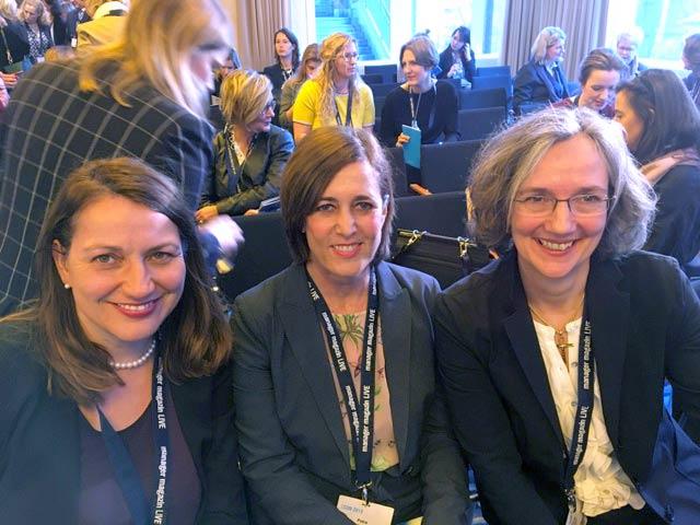 Sabine Hansen, Petra Schlieter-Gropp und Nicole Riggers