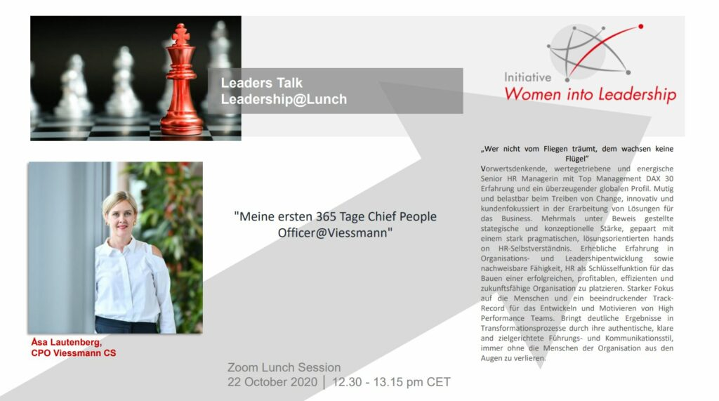 Asa Lautenberg beim Leader Talk Leadership@Lunch
